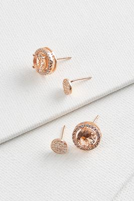 rose gold stud set