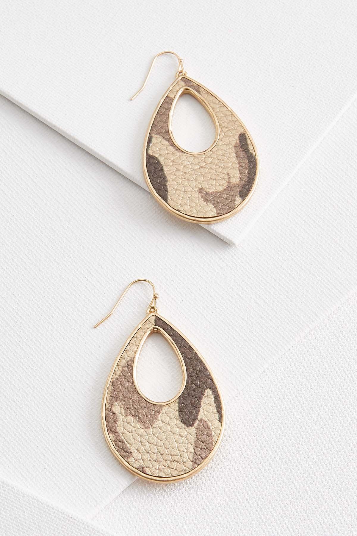 Gold Camo Earrings