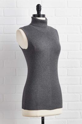 chic him out sleeveless sweater
