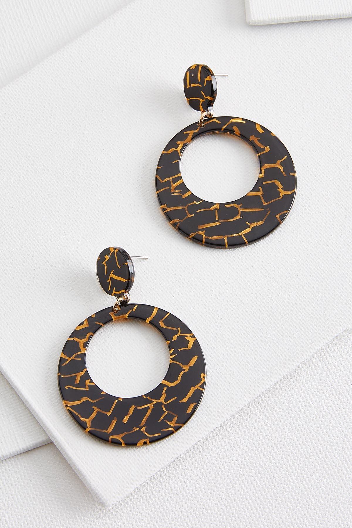 Gold Resin Earrings