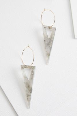 smoky lucite earrings