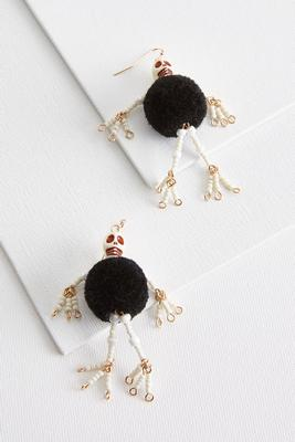 shimmy skeleton earrings