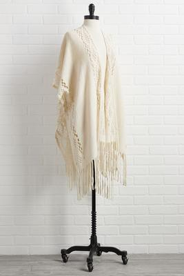 feeling cozy poncho
