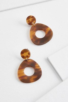 oval tort earrings