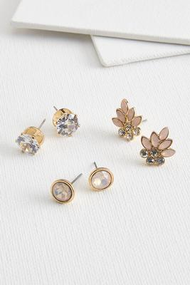 floral glam earring set
