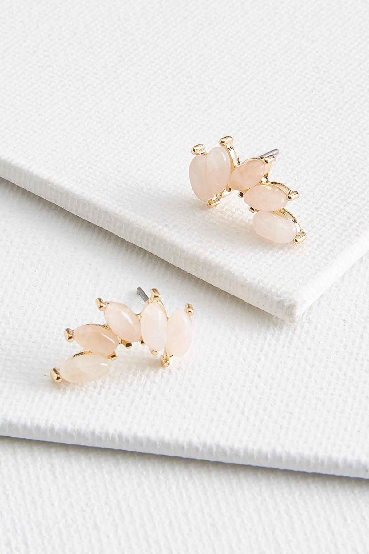 Stone Wing Earrings