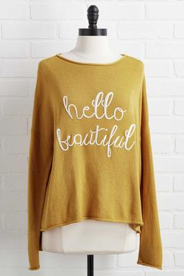 hello beautiful sweater