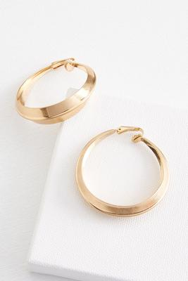 curved hoop clip earrings