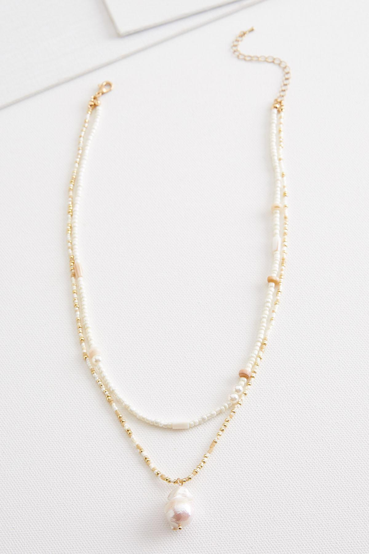 Pop Of Pearl Necklace