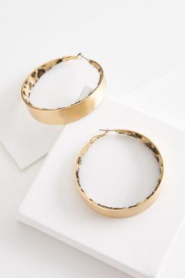 leopard lined hoop earrings