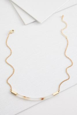 lucite bar necklace