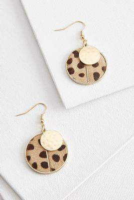 animal print pendant earrings