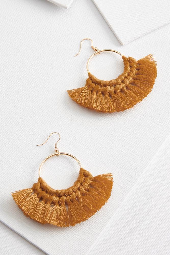 Hoop Fringe Earrings