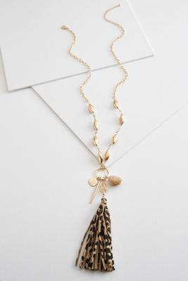 animal tassel necklace