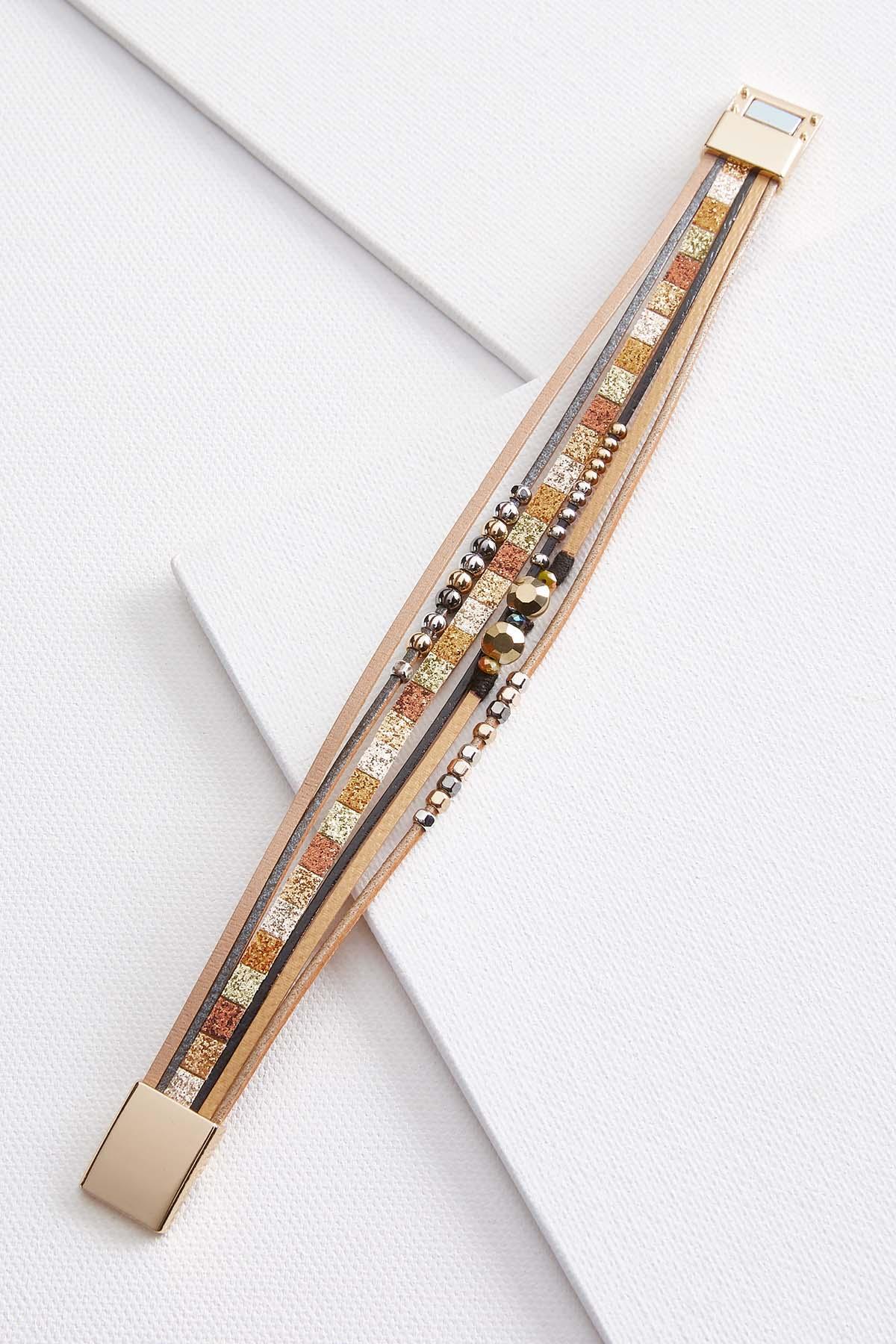 Sparkle Leather Bracelet