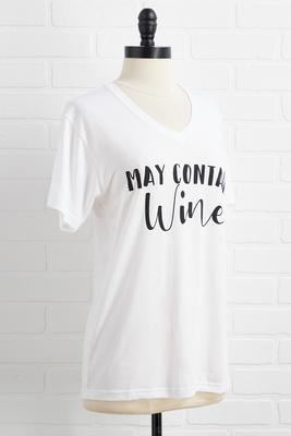 may contain wine tee