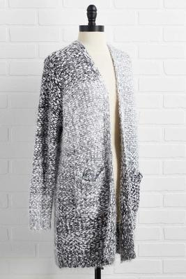 wishing for snow cardigan
