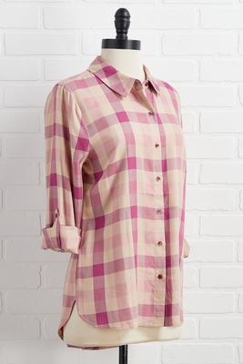 made you blush plaid shirt