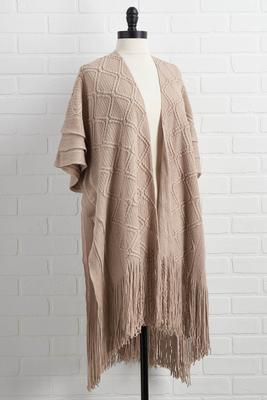 feels of fall poncho
