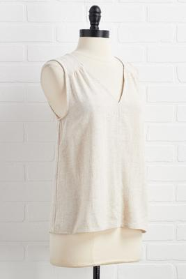 tell me you`re linen tank