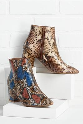 snake the right choice booties