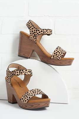cheetah girl sandals