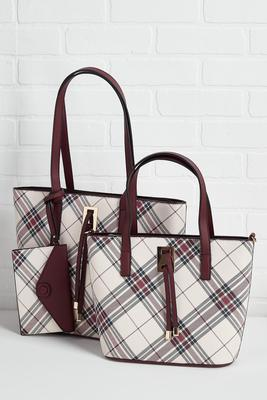 plaid to meet you bag