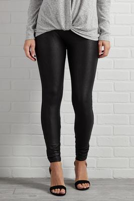 faux leather say never pants