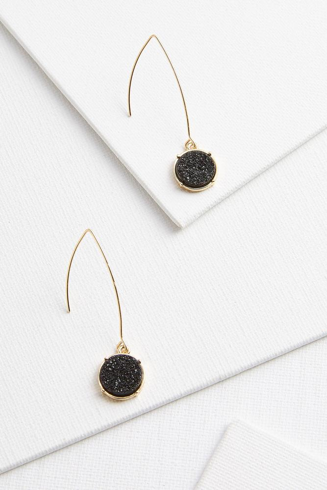 Druzy Threader Earrings