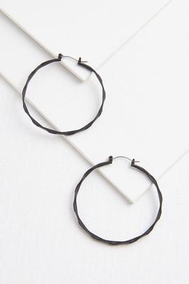 with a twist hoop earrings