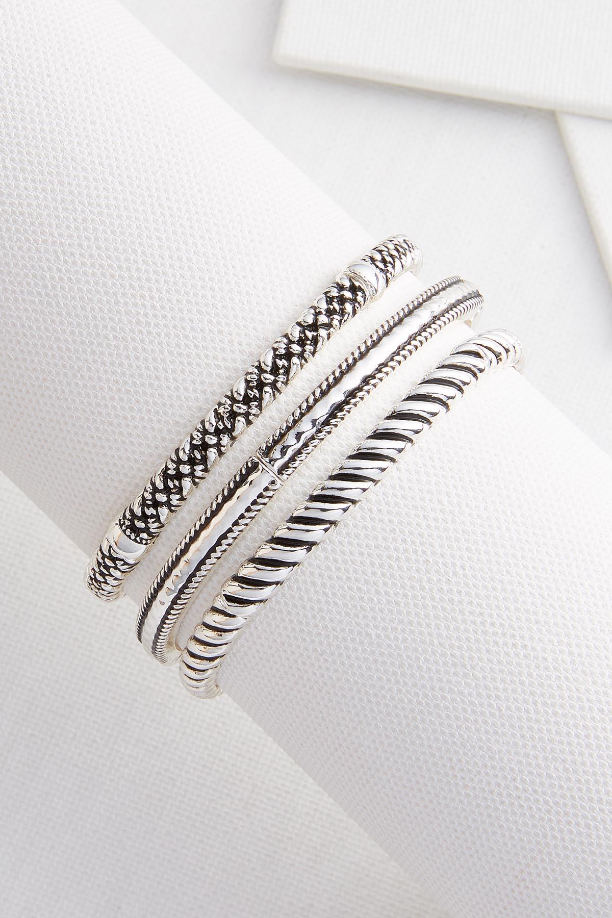 Metal Stretch Bracelet Set