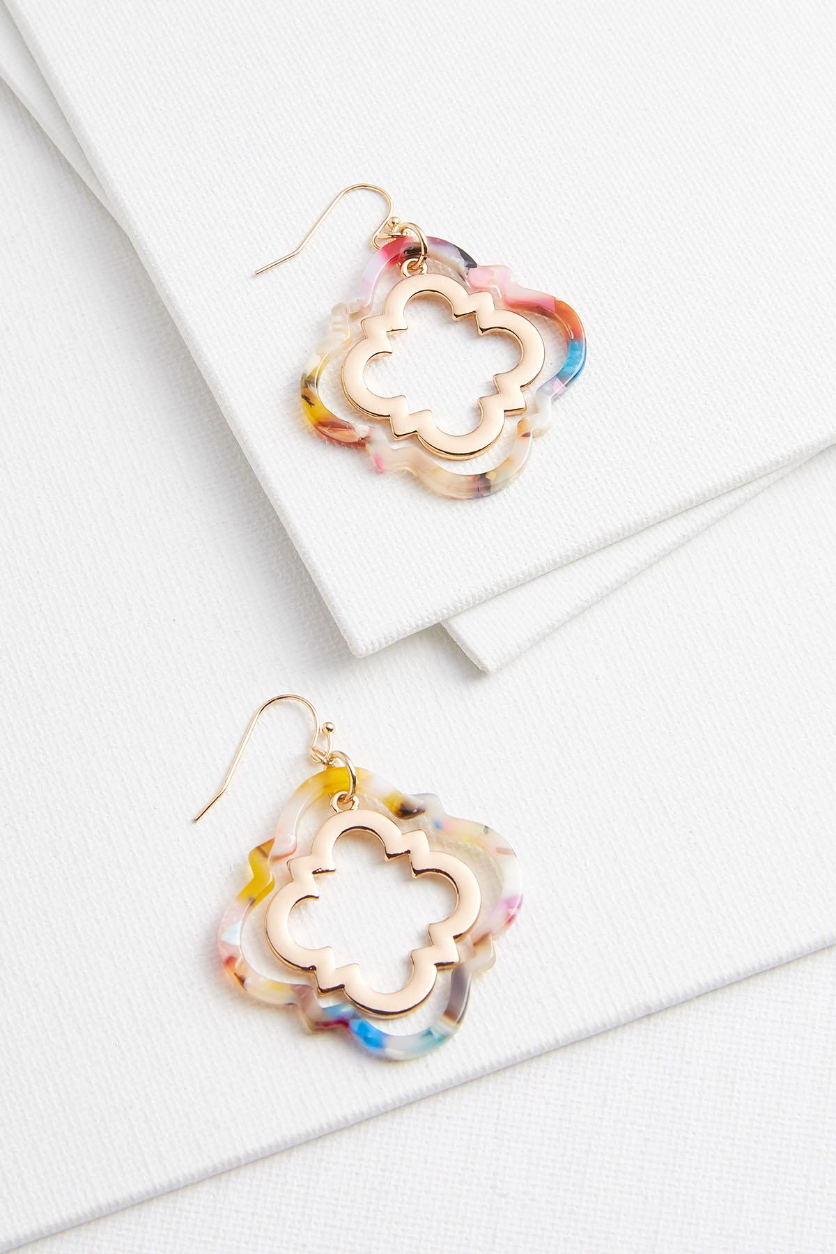 Mixed Emotions Medallion Earrings