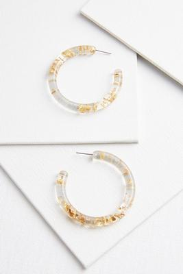 all that glitters hoop earrings