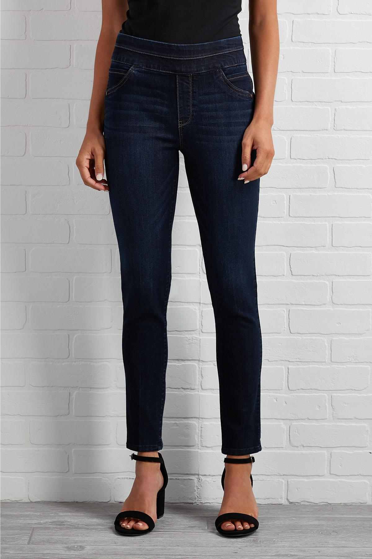 Pull- On Over Ankle Jeans
