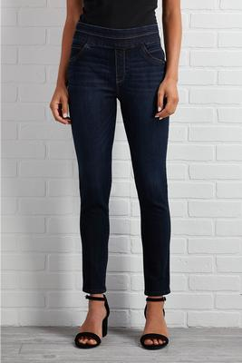 pull-on over ankle jeans