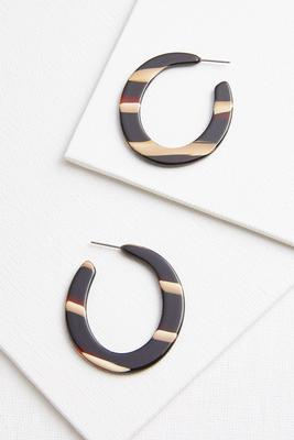 lucite stripe earrings