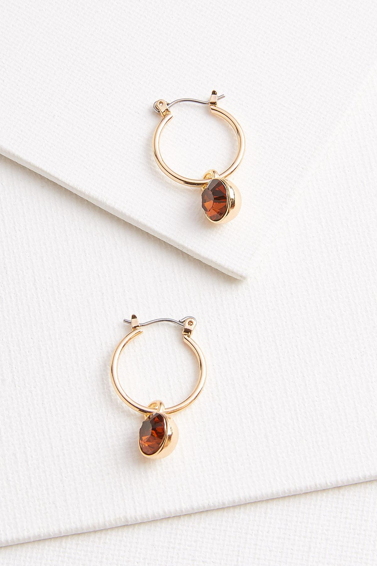Gem Huggie Hoop Earrings