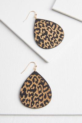 wooden spot on earrings