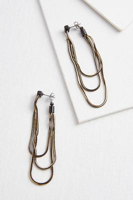 raining chain earrings