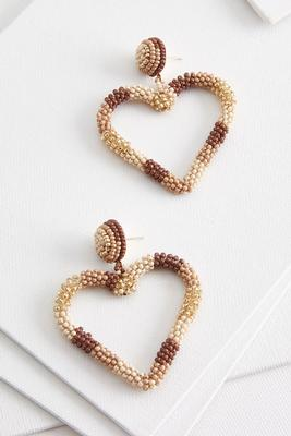 nude heart earrings