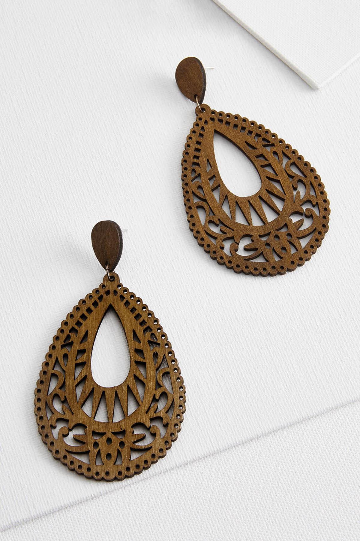 Sunrise Wooden Earrings
