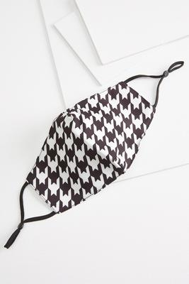 houndstooth or dare face mask