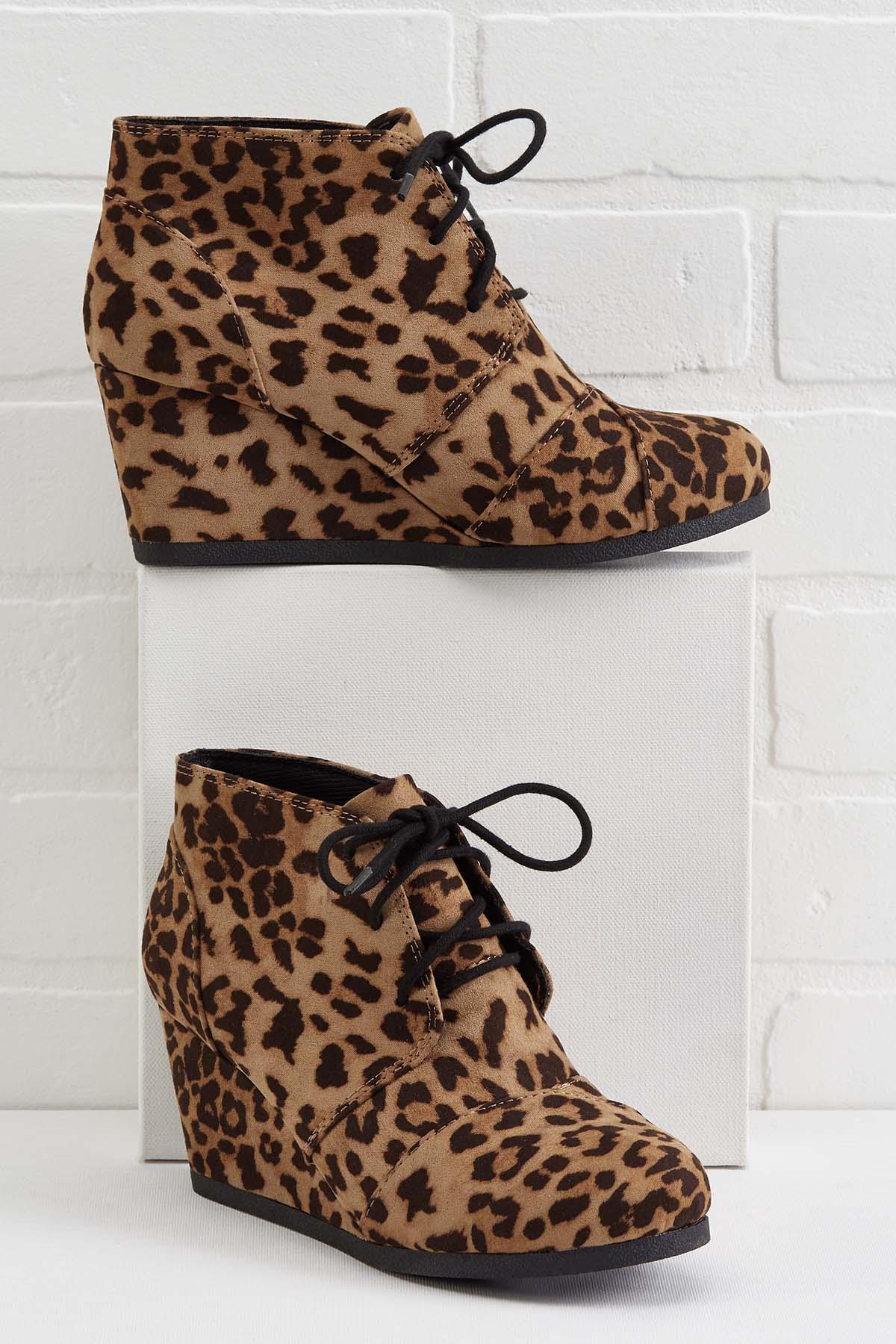 Leopard Lace Up Wedges