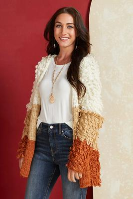 pumpkin spice season cardigan