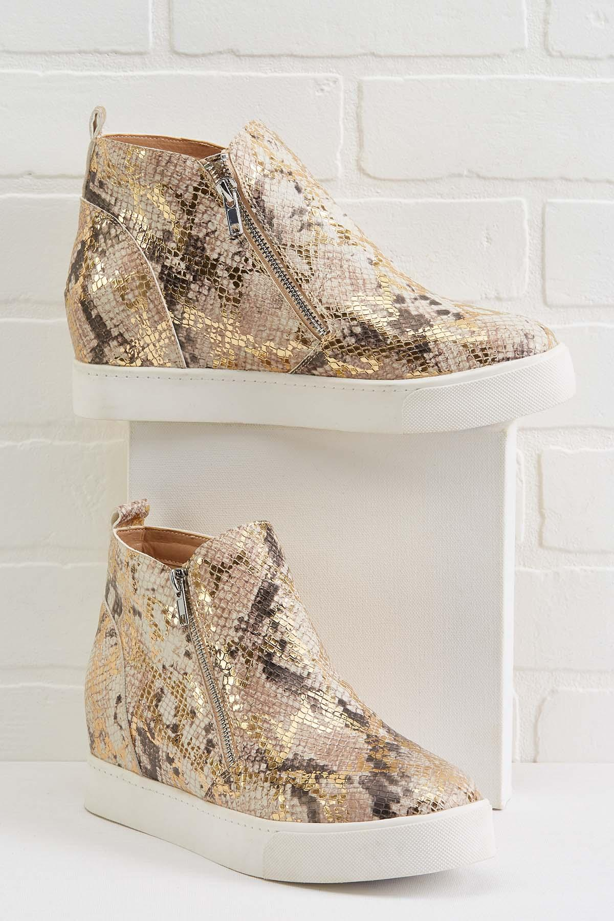 Stepping On The Scale Wedge Sneakers