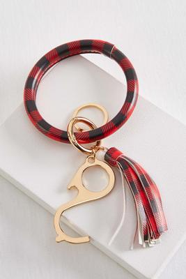 plaid touchless key bangle