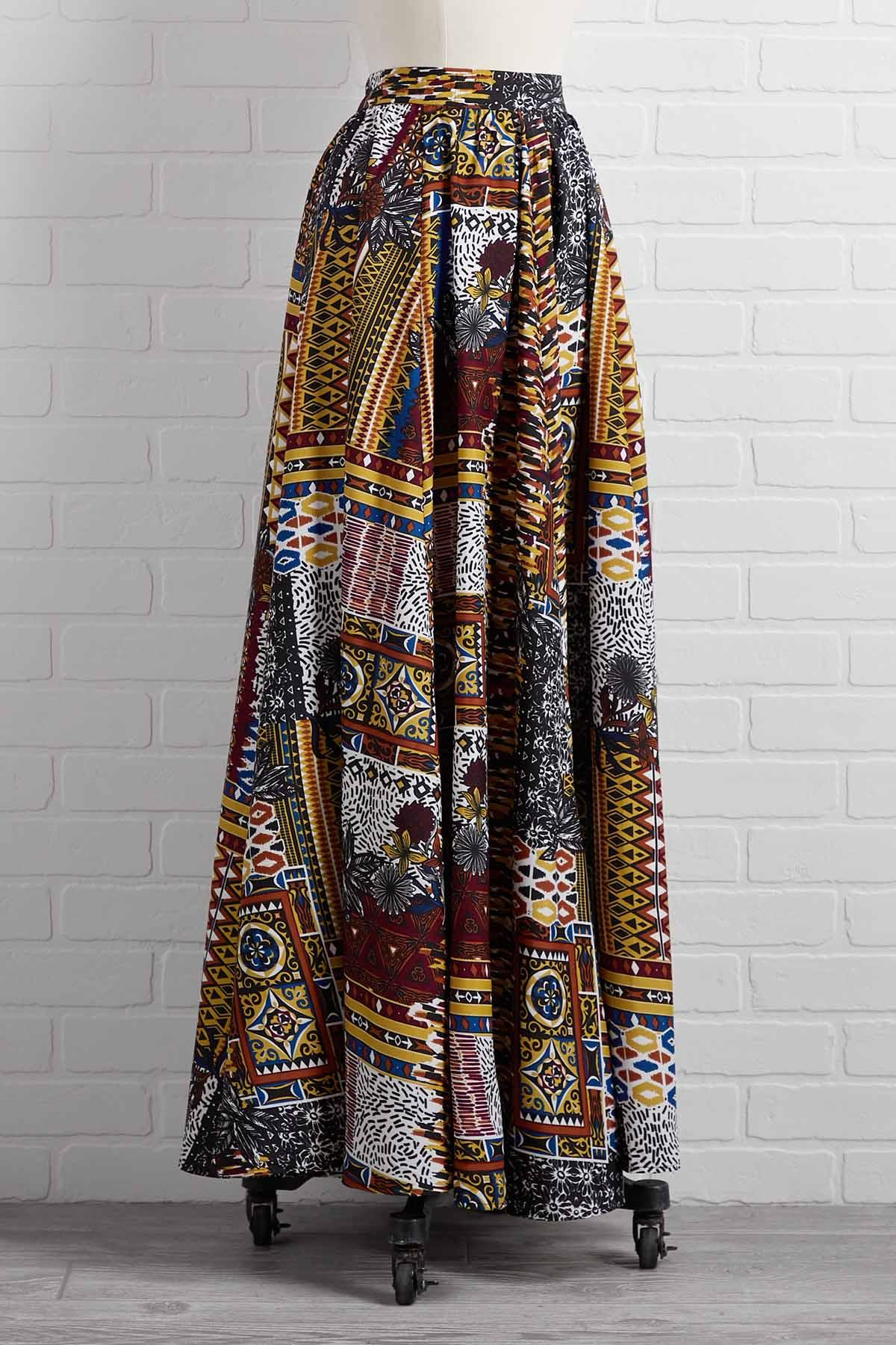 Around The Globe Maxi Skirt
