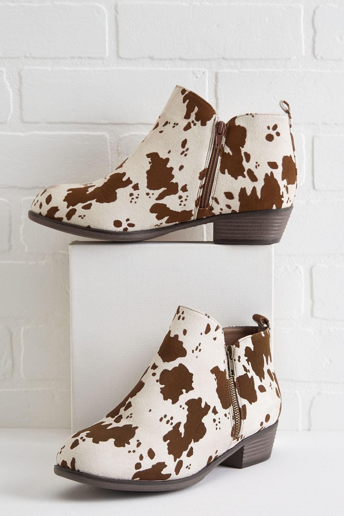 Over The Moo For You Ankle Boots