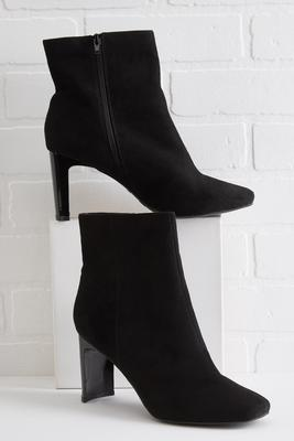 half moon heel ankle boots