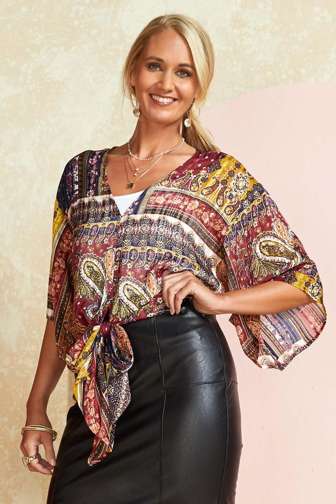 Patchwork On Your Attitude Top